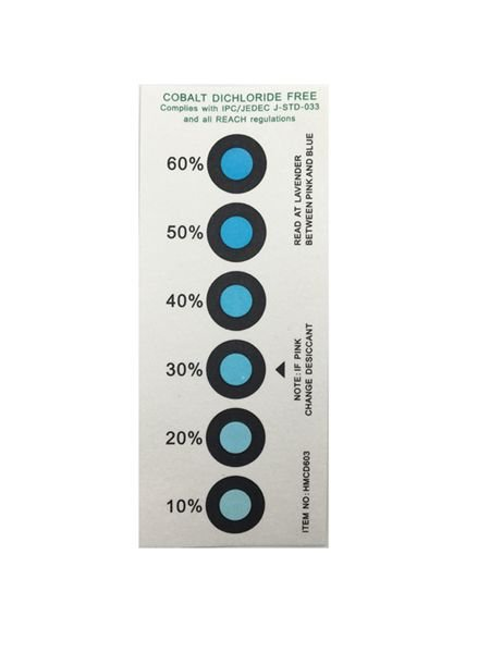 6 Dots 10%-60% Vacuum Package Humidity Indicator Label