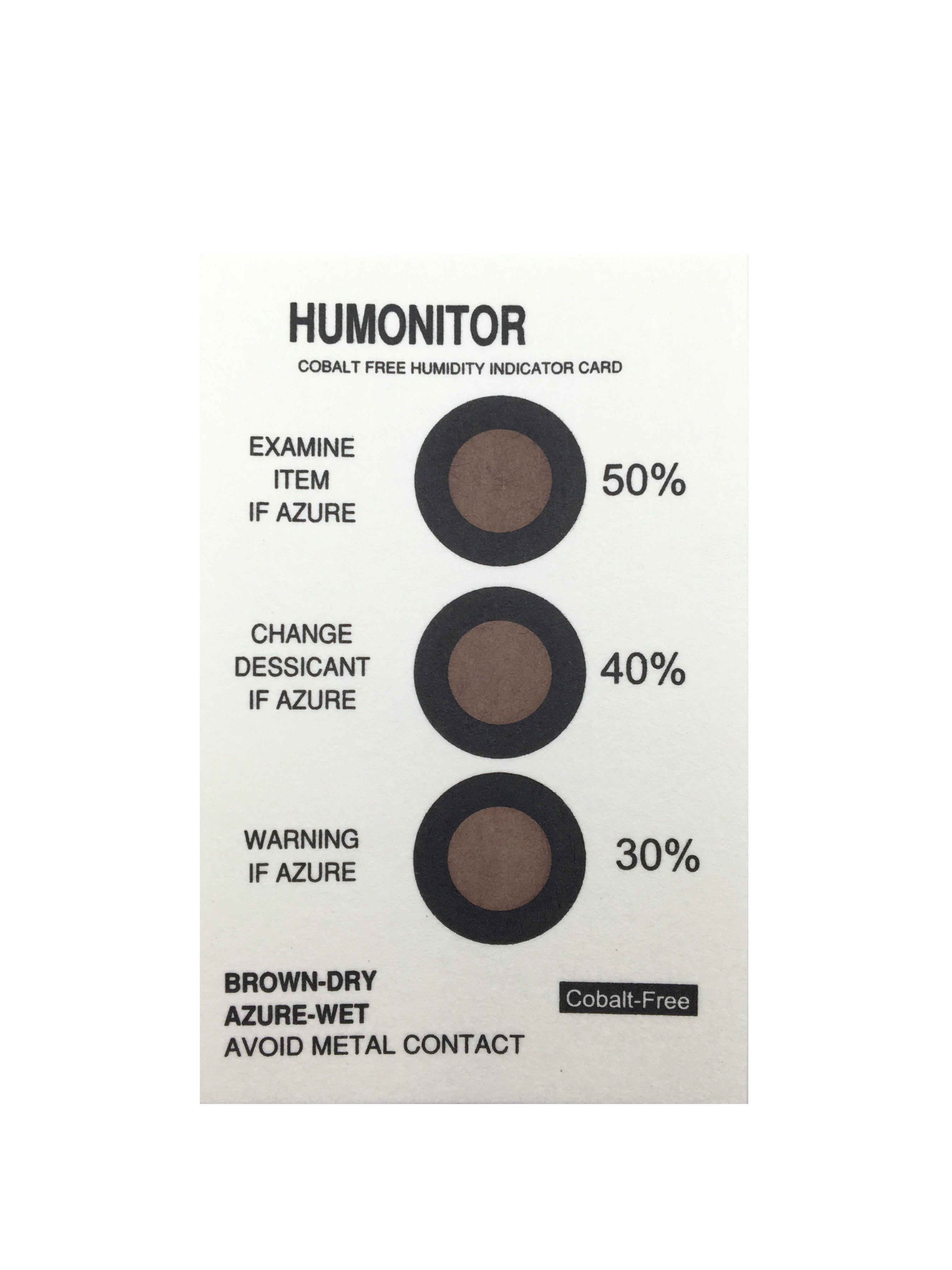 Color Change Humidity Indicator Card Humidity Indicator Paper