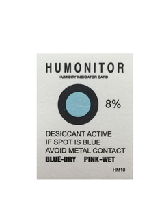 Humidity Indicator Card From Blue To Pink