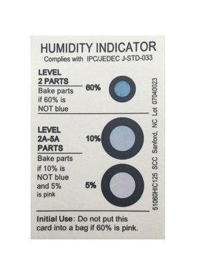 Dry Package China Moisture Indicator Card